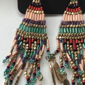 Beaded bohemian earrings